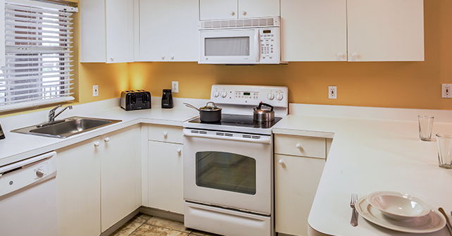 Room with a Full Kitchen